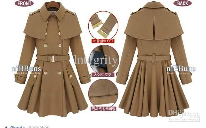 1921d4b366 2017 new Women s double-breasted Shoulder cape coat Women s ...