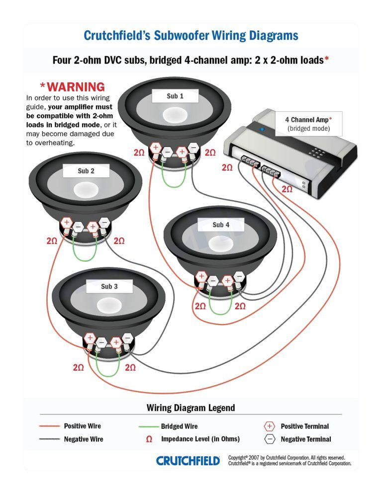 wiring diagram for dual 4 ohm subwoofer caro audio y m s pinterest rh pinterest com
