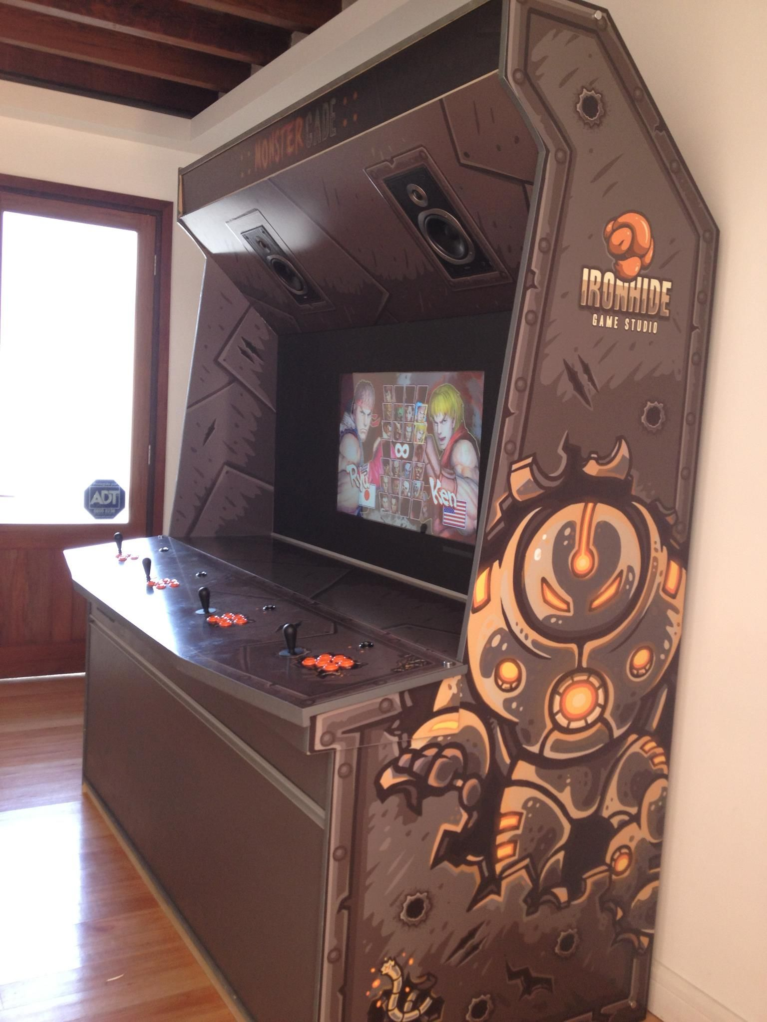 Top 4 player arcade cabinet on re 4 player mame cabinet build photos -  Monstercade Irohide Studios 4 Player Mame Great For Employee Morale Arcade Roomarcade Machinearcade