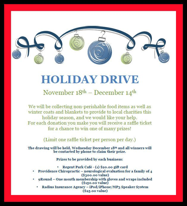 Holiday Drive By Radius Insurance Agency Fort Mill Sc Raffle Tickets Insurance Agency Local Charity