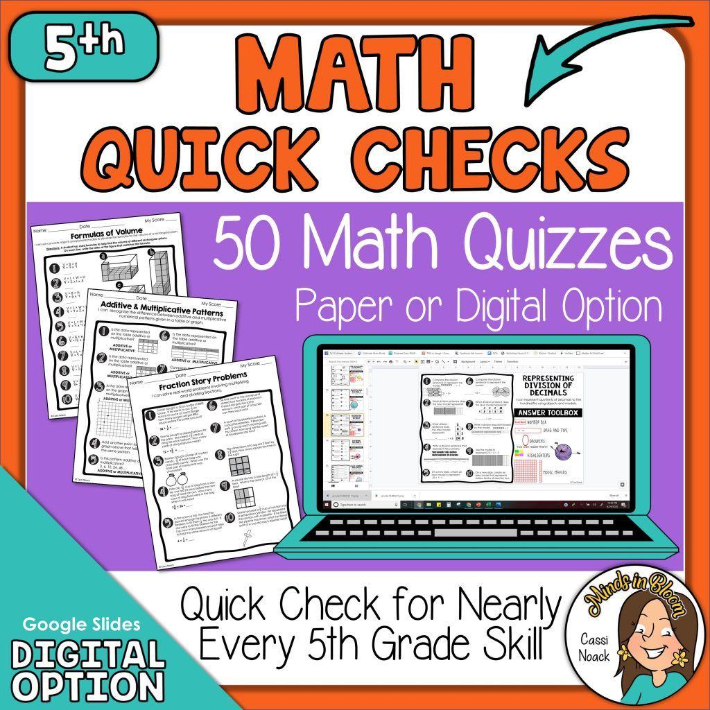 3rd 5th Grade Math Quick Checks 5th Grade Math Math Skills Upper Elementary Math [ 1024 x 1024 Pixel ]