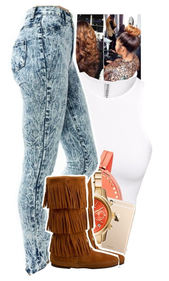 Untitled #1149 by tonibalogni on Polyvore featuring polyvore, fashion, style, H&M, Minnetonka and Valentino