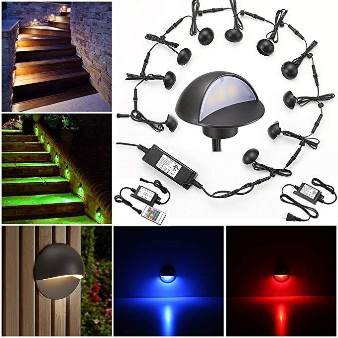 Led Deck Lights Kit Fvtled Pack Of 10 Low Voltage Led Step Stair
