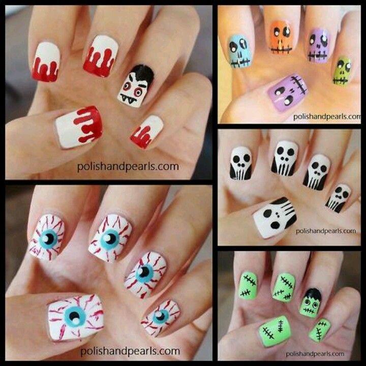 Newt Nails Halloween Nail Pinterest Fun Nails