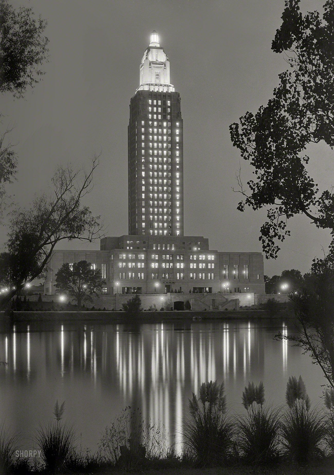 September 1932 Louisiana State Capitol At Baton Rouge Tower