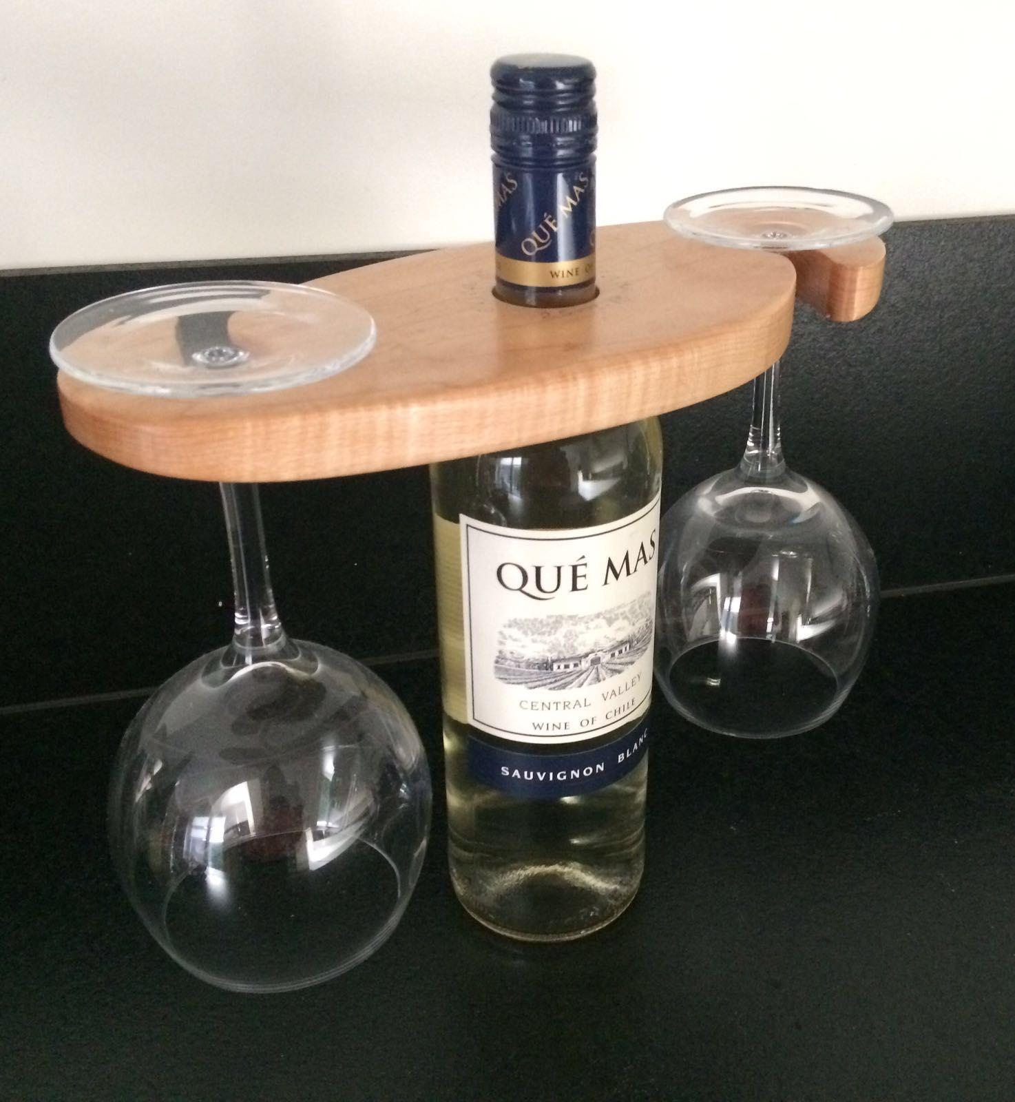 Deze gepersonaliseerde uwine caddyu een wijnrekje voor twee is