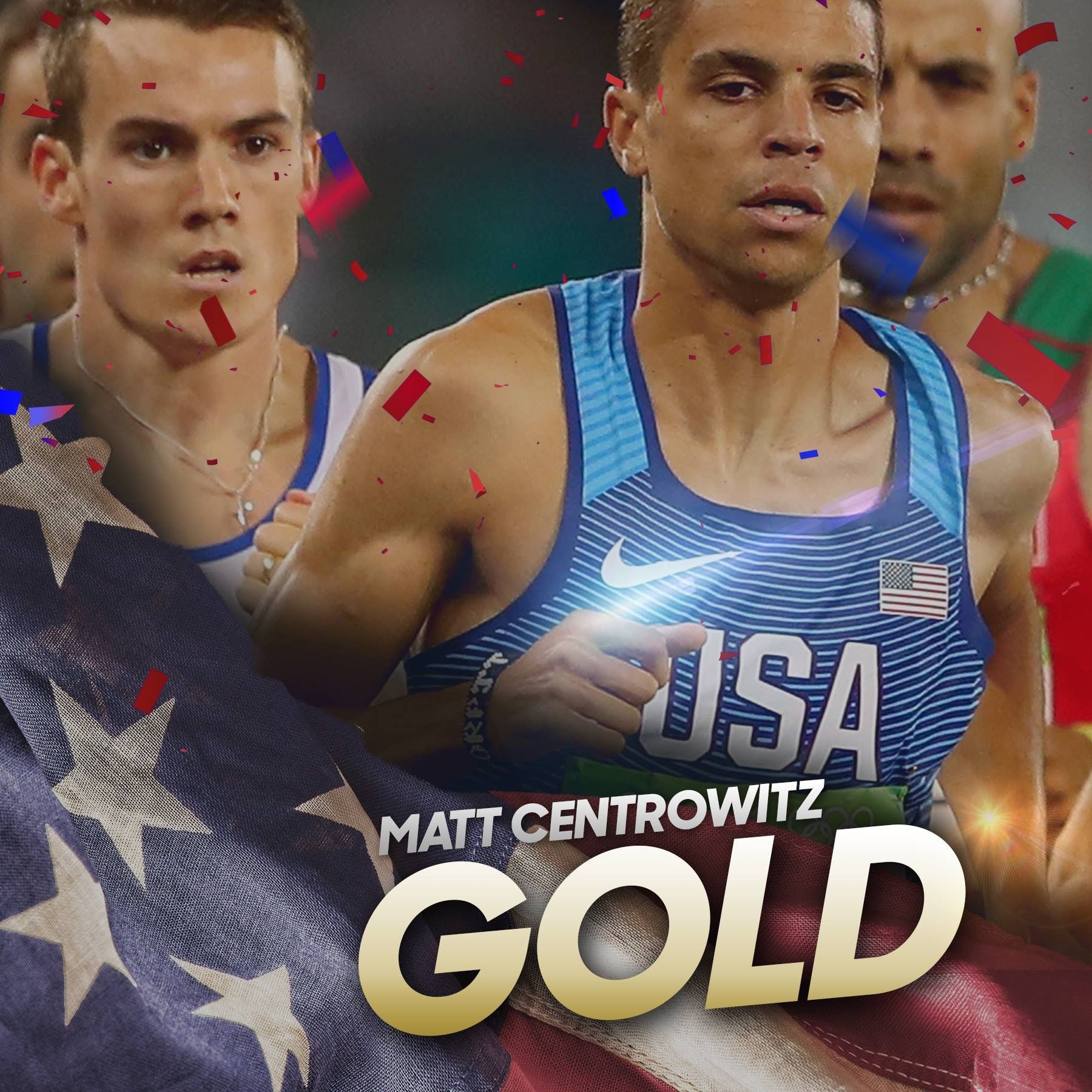Matt Centrowitz WINS the #GoldMatt Centrowitz is the 1st American to win the 1500m since 1908!  Medal in the Men's 1500m! #Rio2016