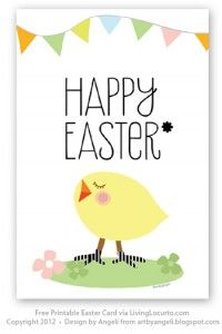picture about Happy Easter Cards Printable titled This is a Free of charge Easter Card Printable still I consider yourself might