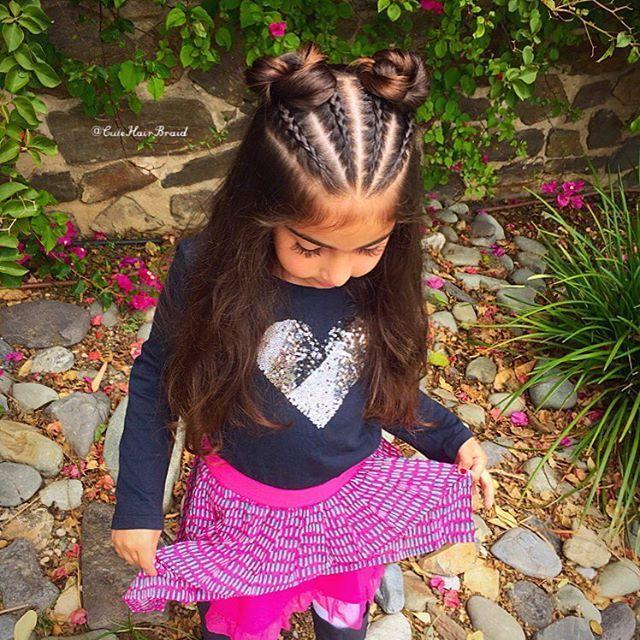 "Valeria On Instagram: ""💘 4 Little Dutch Braids 💘 Into A Little Bun 💘 Or 4 Cornrows Braids 💘 I Recreated This Beautiful Hairstyle From Shelley Prettylittlebraids…"" - Hair Beauty"