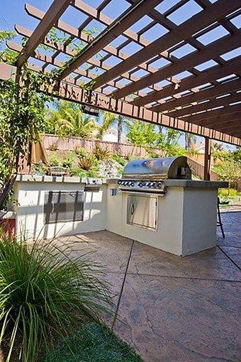 L Shaped Concrete Patio Revive Landscape Design San Diego Ca Outdoor Kitchen Design Outdoor Kitchen Design Layout Outdoor Kitchen