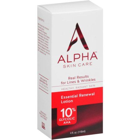 Alpha Skincare Alpha Skin Care Essential Renewal Lotion 4 Fl Oz Walmart Com Skin Care Essentials Skin Care Lotions Skin Care