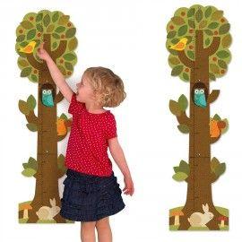 Toise de croissance avec autocollants - arbre des animaux