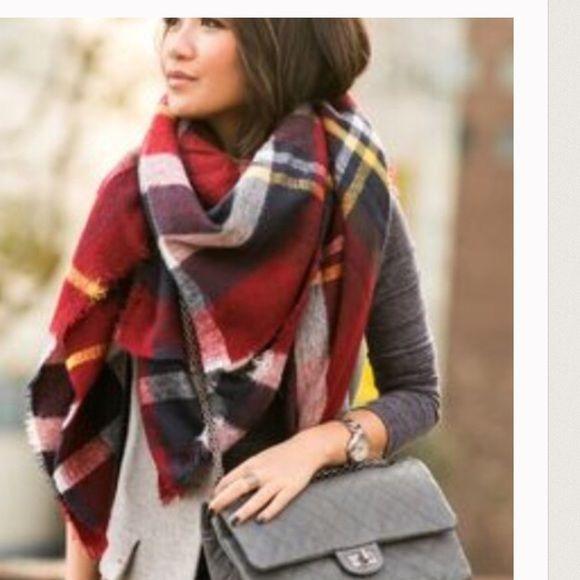 New blanket scarf 2016 Fashion Women Blanket Oversized Tartan Scarf Wrap Shawl Plaid Cozy Checked Pashmina Accessories