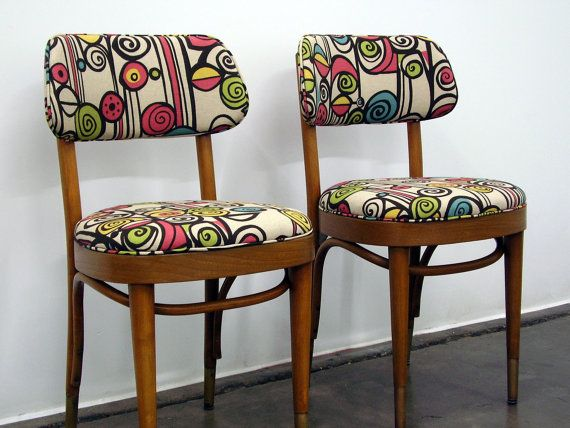 Charmant RESERVE FOR KATIE Pair Of Vintage Thonet Bentwood Chairs