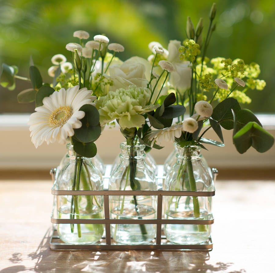 White Cottage Garden Fresh Flower Bottles Flower Bottle Milk
