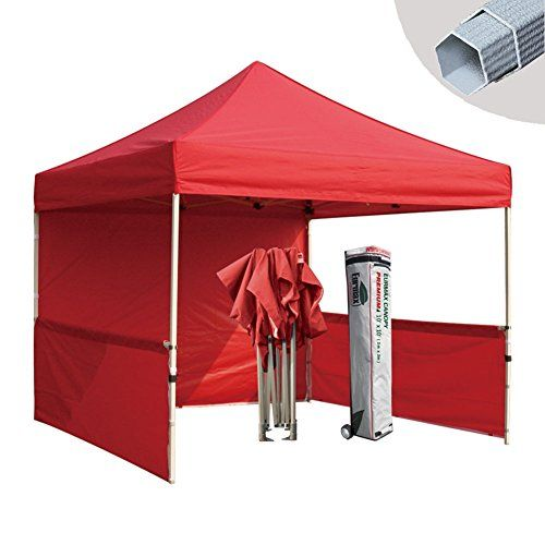 Eurmax Premium 10x10 Instant Canopy Craft Display Tent Portable Booth Market Stall With Carry Bag Red You Can With Images Pop Up Canopy Tent Canopy Outdoor Canopy Tent