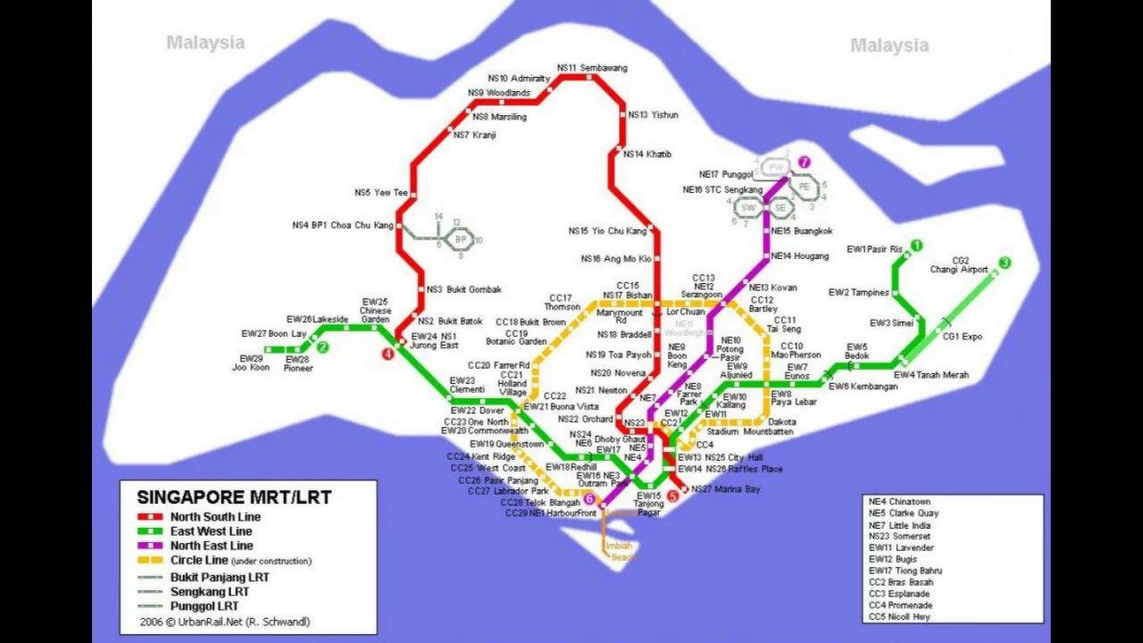 Mrt Subway Map.Singapore Mrt System Map Smrt Station Mrt Singapore Singapore