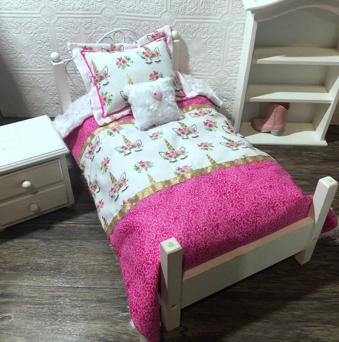 """Pin on 18"""" Doll Bedding"""