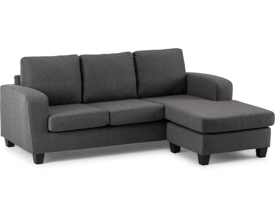 Arnold Dark Grey Interchangeable Sectional Sofa Structub