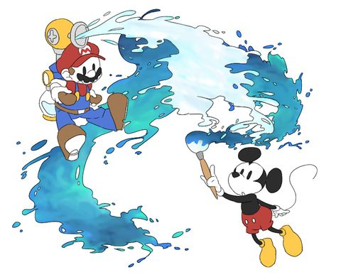 Mario X Epic Mickey<<<<<Now that's a crossover I didn't expect
