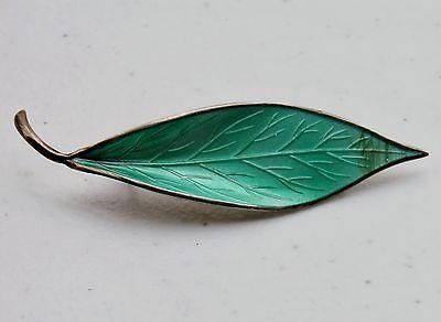 Norway-David-Andersen-2-5-8-Sterling-Silver-925S-Mint-Green-Enamel-Brooch-Pin
