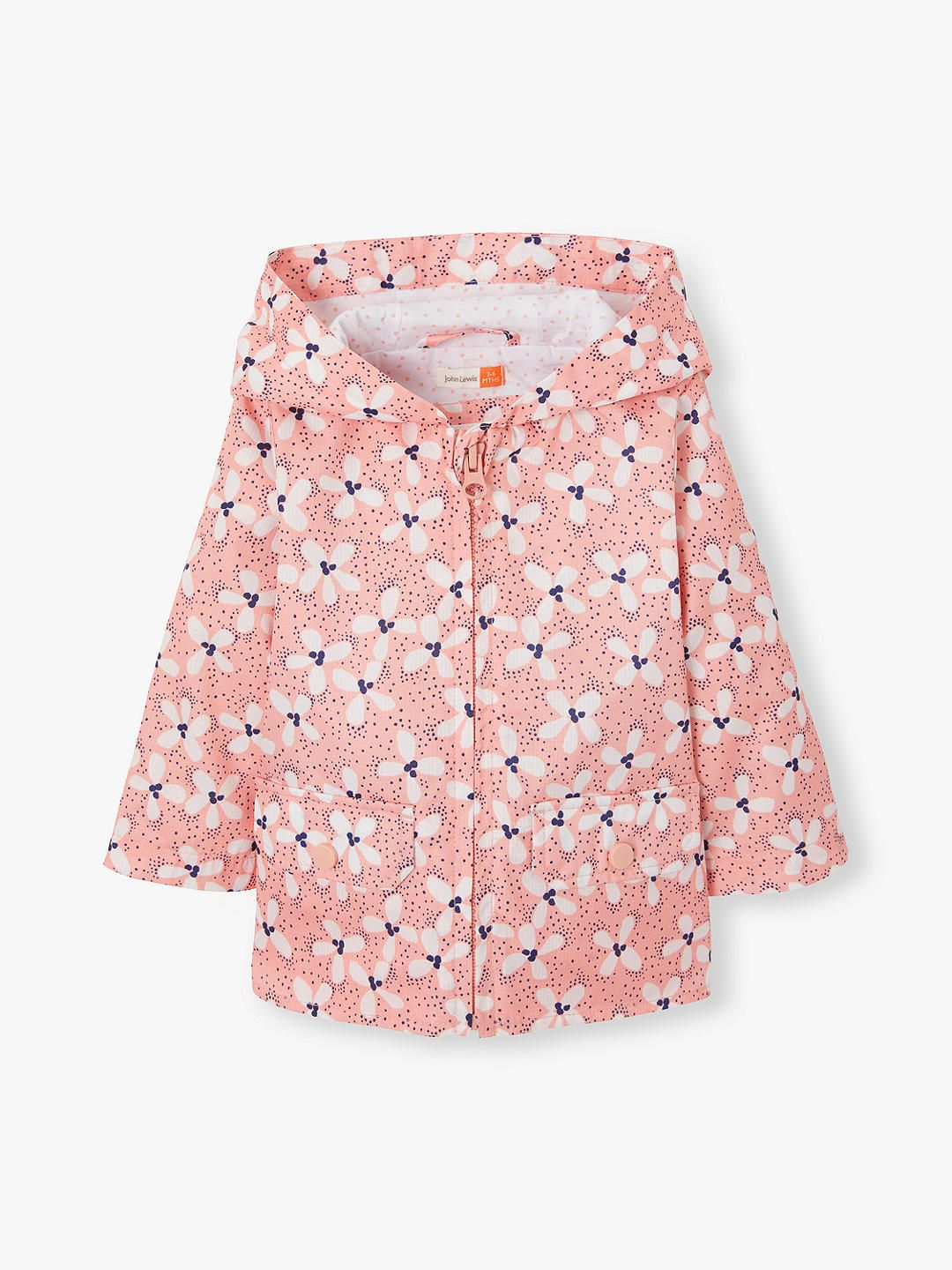 0b0a413bf BuyJohn Lewis & Partners Baby Floral Jacket, Pink, 2-3 years Online at  johnlewis.com
