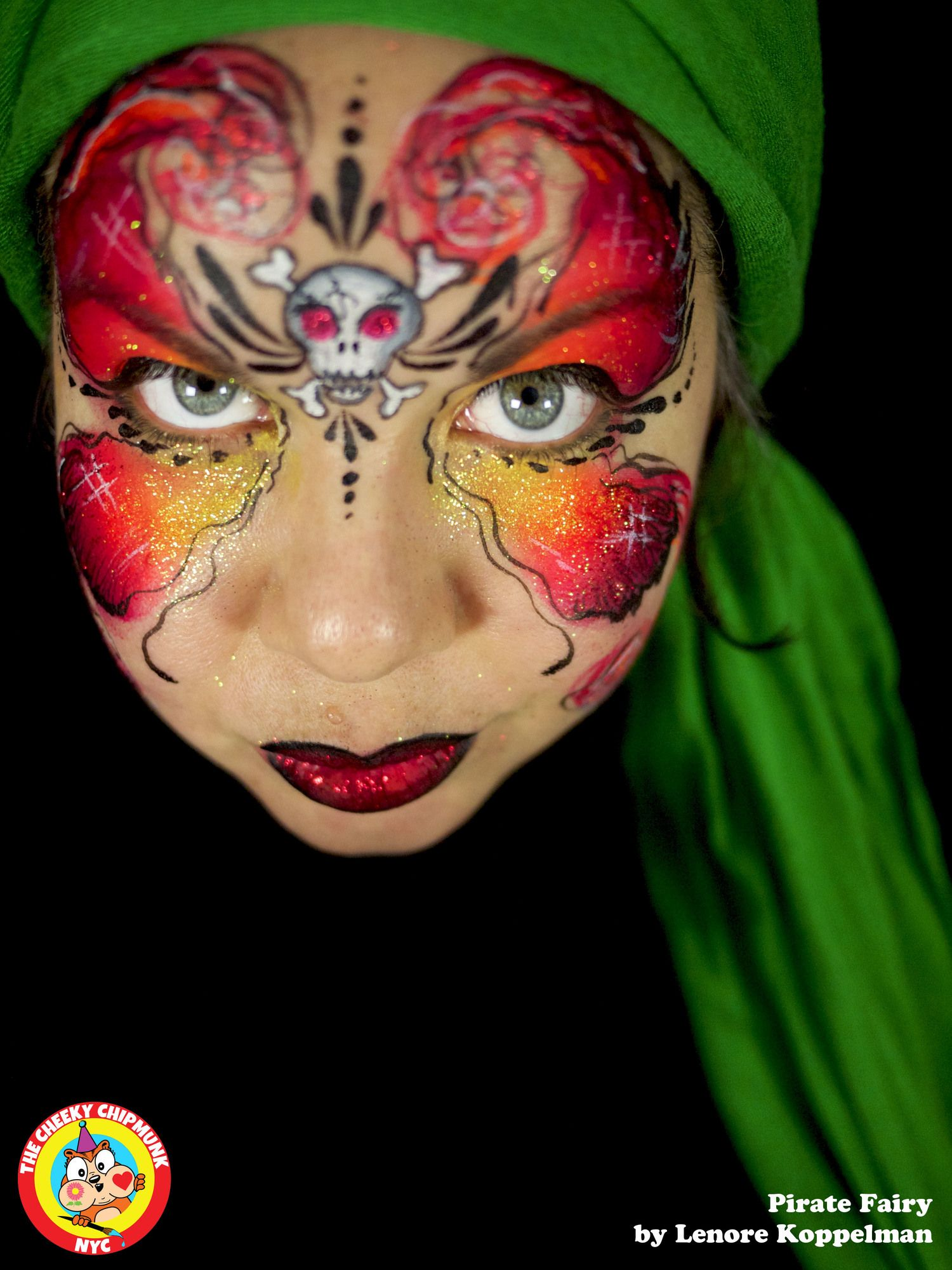 Fairy pirate Face, Portrait, Body painting