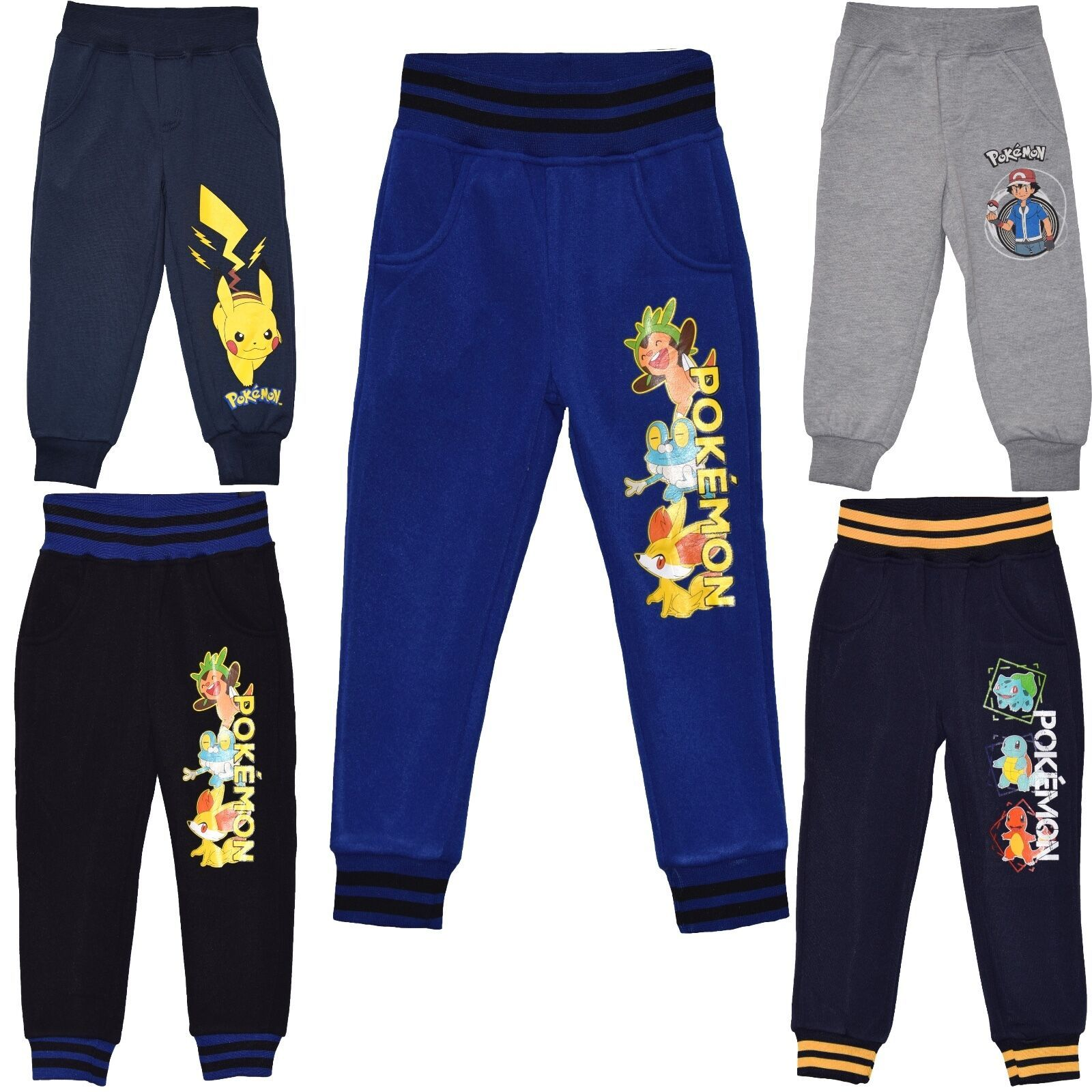 OFFICIAL FULLY LICENSED POKEMON CUFFED JOGGERS//JOGGING PANTS//TROUSER 2-12YEARS