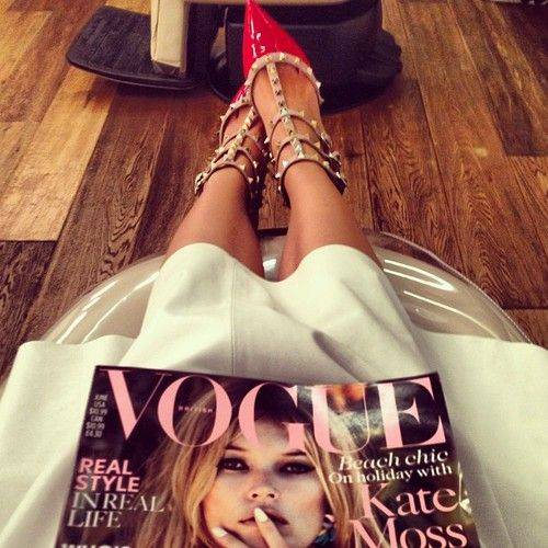 Mon Style loves... Vogue & Valentino #fashion #style #vogue #valentino #shoes #studs