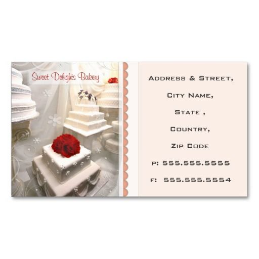 Custom bakery wedding cakes business card cake business custom bakery wedding cakes business card reheart Choice Image