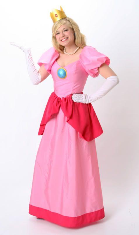 Homemade princess peach costume