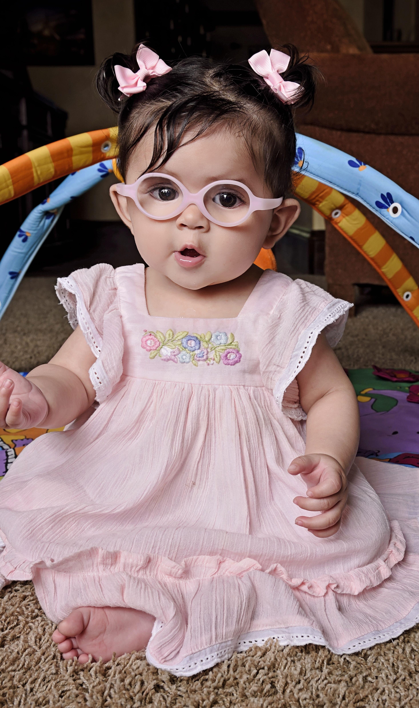 347df0df1f0 Nora s first day in glasses! Welcome to the world baby girl!  miraflex   welldressedwolf  littlefoureyes  pink  pigtails  littleinpretties   littlenpretties