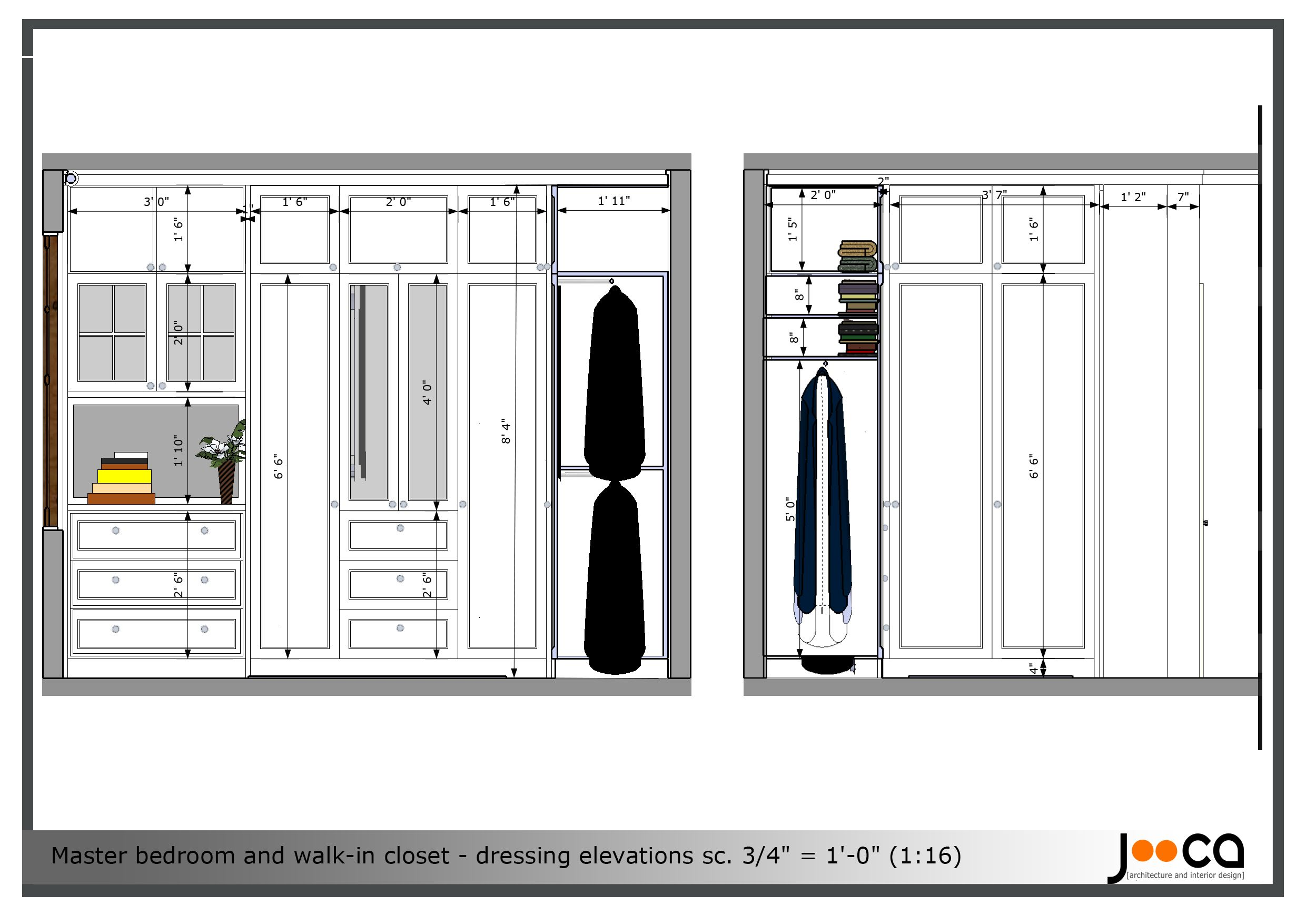 Walk in closet layout plan recherche google design et for Bedroom layout design
