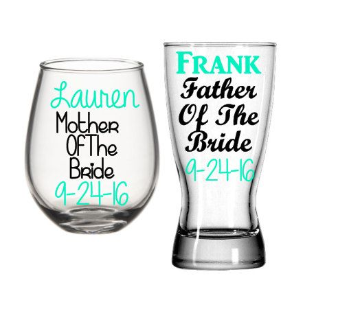 Hey, I found this really awesome Etsy listing at https://www.etsy.com/listing/253968463/mother-of-the-bride-wine-glass-father-of