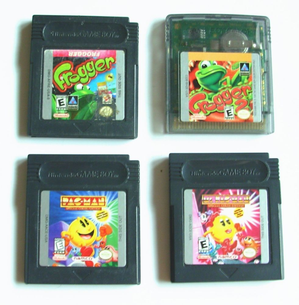 Handheld coloring games for toddlers - 4 Vintage Gameboy Color Game Lot Gba Sp Frogger 1 2 Pac Man Ms