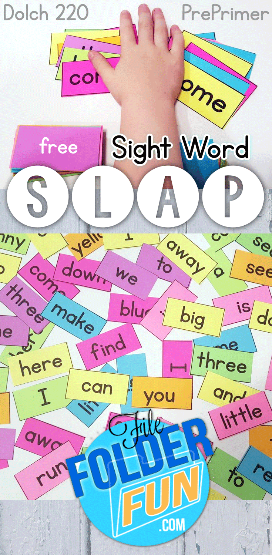 Free Sight Word Printables - Sight Word Slap Game | Kind, Freebies ...