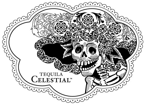 Tequila Celestial Event Tattoo | Dia de los Muertos 2013 at Legacy Liquor Store in Vancouver BC by Axion Design.