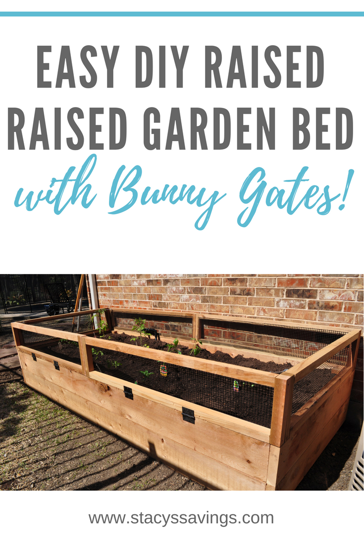 How i built my awesome diy raised vegetable garden bed u bunny gates
