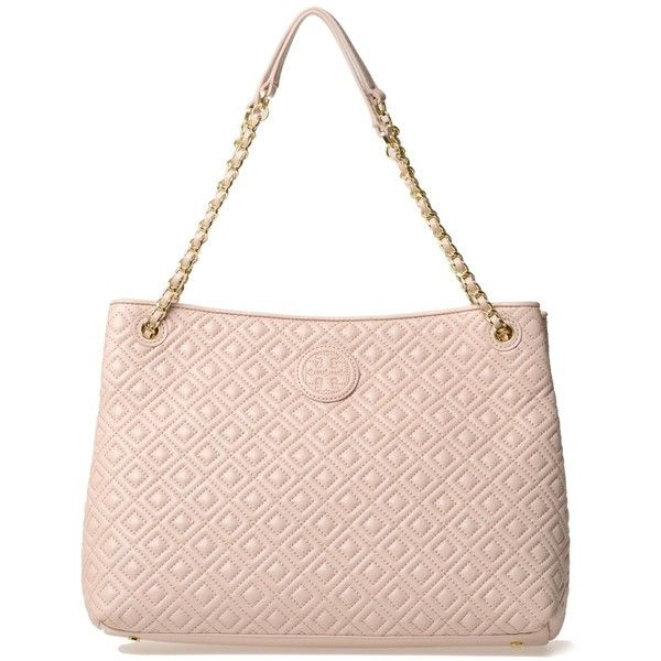 Tory Burch Shoulder Bags ($380) ❤ liked on Polyvore featuring bags, handbags, shoulder bags, pink, quilted shoulder bag, leather shoulder handbags, tory burch shoulder bag, pink purse and leather handbags