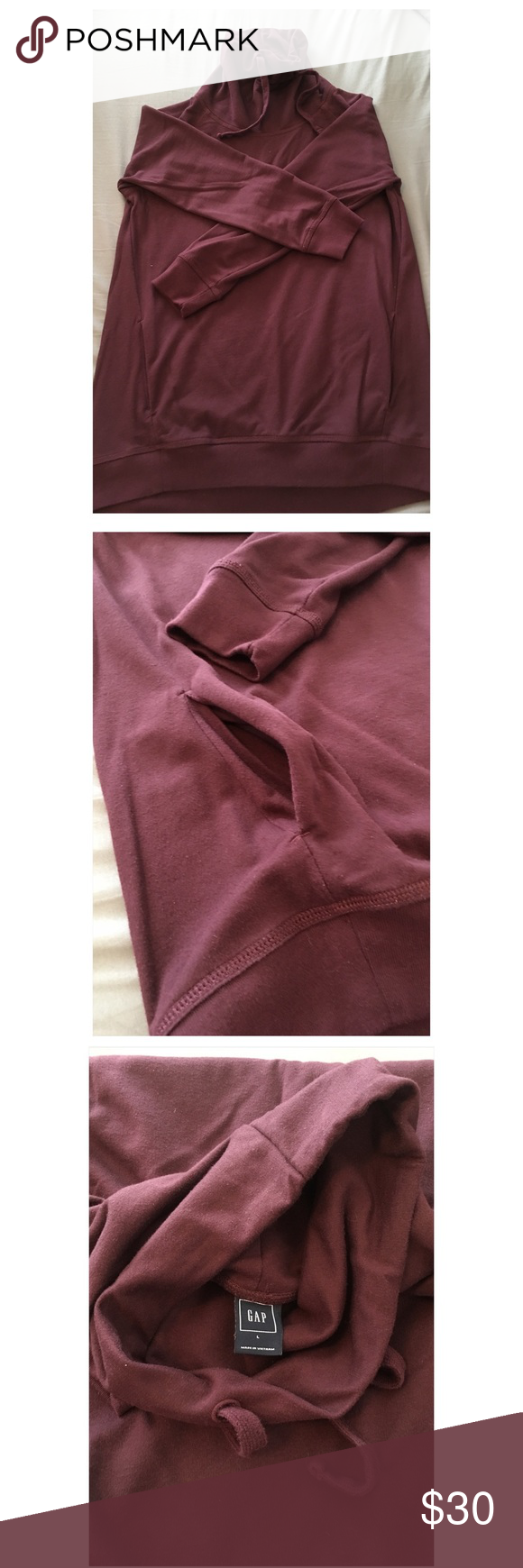 GAP Cowl Neck Sweatshirt GUD Burgundy cowl neck sweatshirt - worn a handful of times - super comfy - I love this sweatshirt and love the color even more. I wish I could keep it but it's too big on me.  Make me an OFFER & Let's make a DEAL! GAP Sweaters Cowl & Turtlenecks
