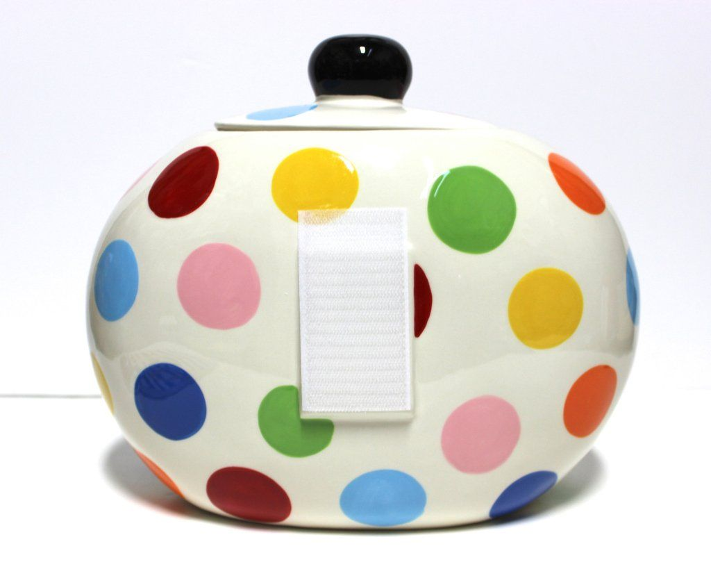Coton Colors Bright Dot Happy Everything Big Cookie Jar!