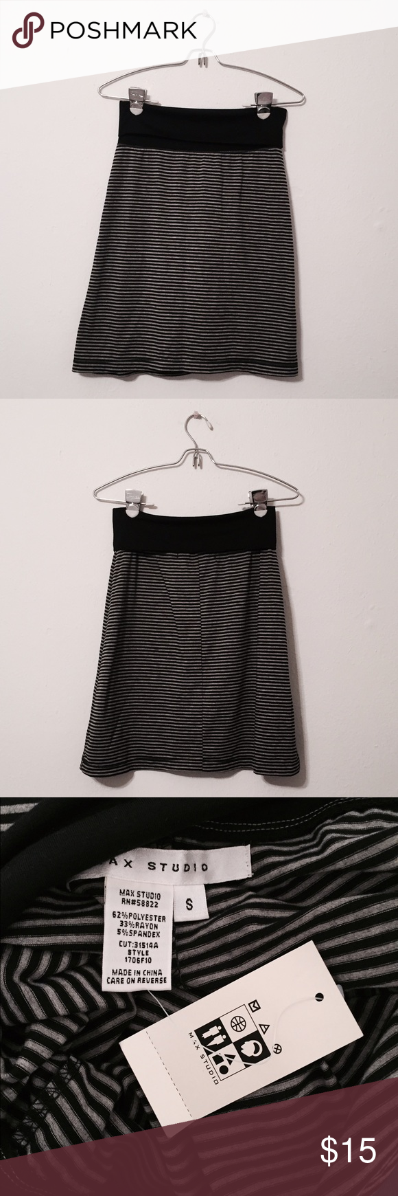 MAX STUDIO Stripped Skirt A stripped skirt that is new and comes with its tags! Max Studio Skirts