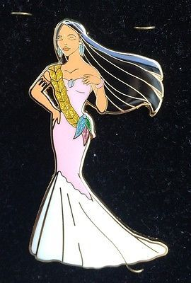 Designer Pocahontas Wedding Dress Fantasy Pin in Collectibles, Disneyana, Contemporary (1968-Now) | eBay