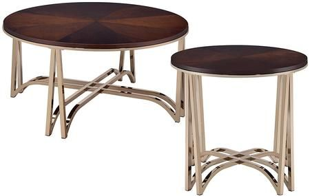 Novus Collection 80990ce 2 Pc Living Room Table Set With 36 Round