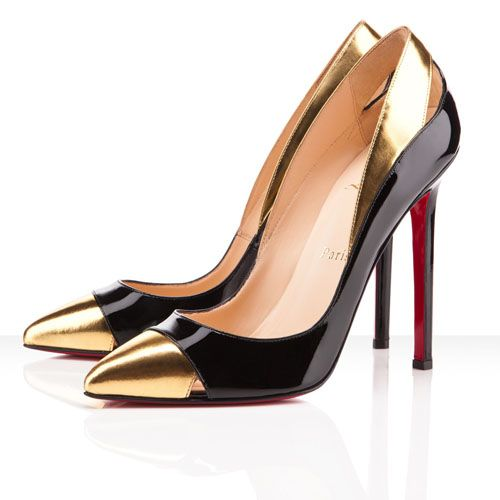 innovative design 96445 c94cf want. Christian Louboutin Pigalle Pumps in Gold and Black ...