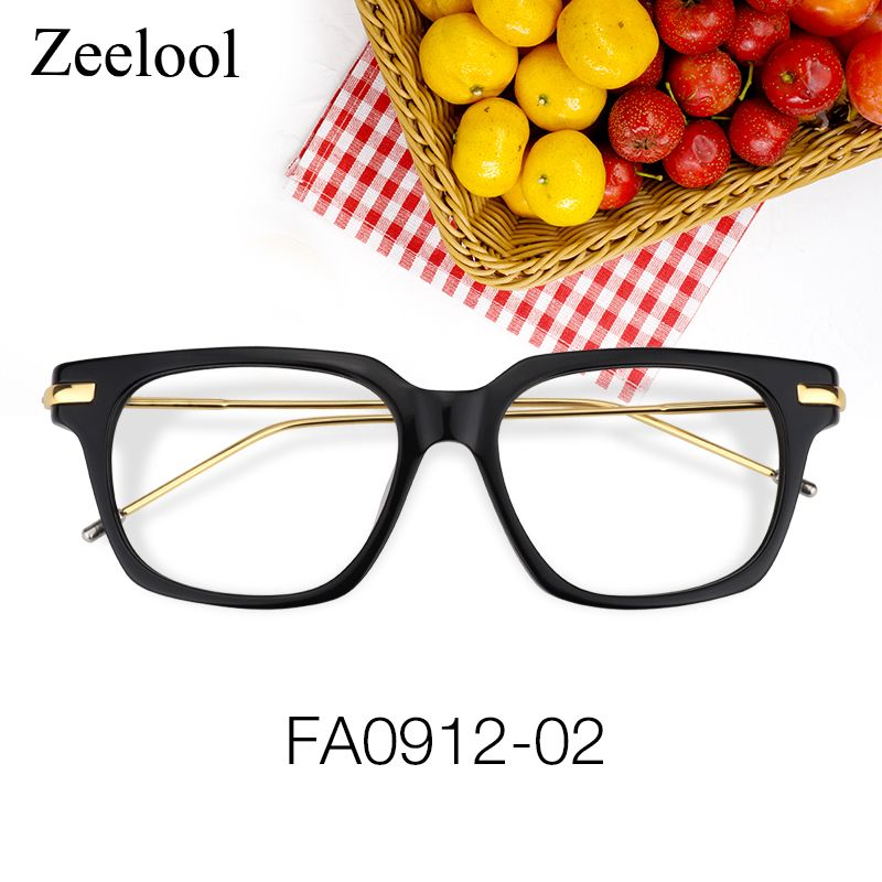 94c042343a Randell Rectangle Black Glasses FA0912-02