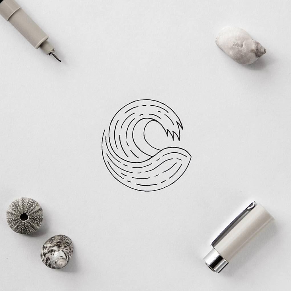 "Photo of Roi Martinez on Instagram: ""Just a quick minimal wave tattoo idea #illustration #wave #minimal #simple"""