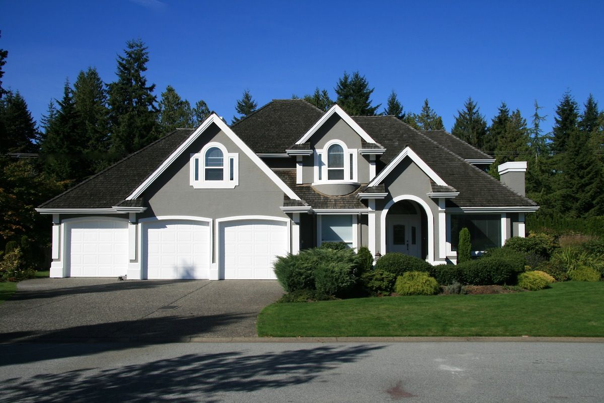 Surrey White Trim Garage Doors And Benjamin Moore