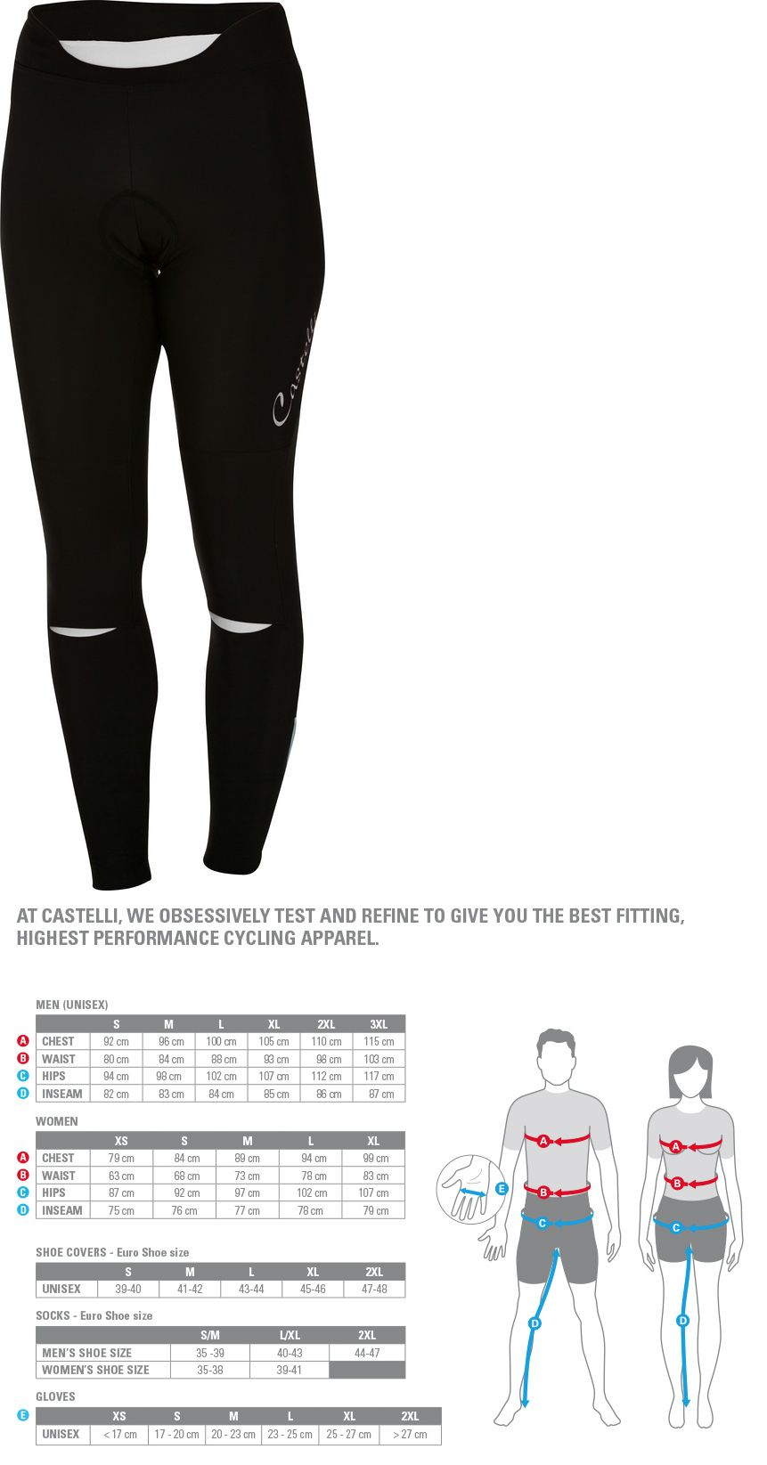 Tights and Pants 177854  Castelli Women S Chic Cycling Tight - 2018 -  BUY ae4fa184c