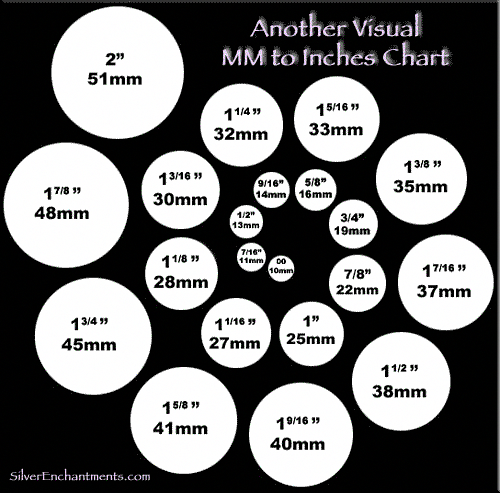 Visual Mm To Inches Chart Beading Jewelry Tutorials Jewelrysupplies Bead Size Chart Jewelry Projects Jewelry Making
